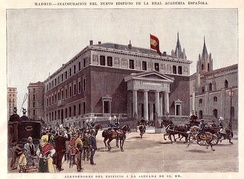 Inauguration of the RAE building in Madrid by Alfonso XIII, 1894