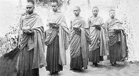 The group of five Buddhist monks exiled in 1926.