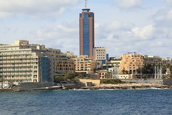 Portomaso Business Tower, the tallest building in Malta