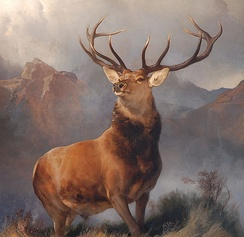 The Monarch of the Glen, 1851, by Sir Edwin Landseer, an iconic image of the 19th century