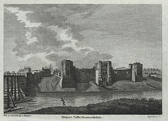 Newport Castle in 1784