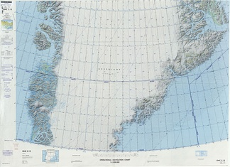 Defense Mapping Agency map of Greenland sheet.
