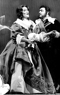 With Joan Sutherland in I puritani (1976)