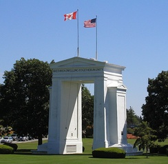 The Peace Arch monument