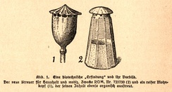 Raoul Heinrich Francé's poppy and pepperpot (biomimetics) image from Die Pflanze als Erfinder, 1920
