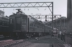 A Reading electric at Reading Terminal, Philadelphia in September 1964