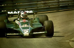 Reutemann driving the Lotus 79 at the 1979 Monaco Grand Prix