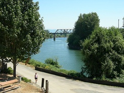 Snohomish River seen from downtown Snohomish in 2006