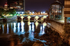 Genesee River and the historic Aqueduct Downtown