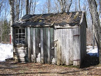 In relatively affluent areas, shacks are often used for storage or have been abandoned.