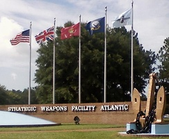 Flag display at Strategic Weapons Facility Atlantic (SWFLANT)