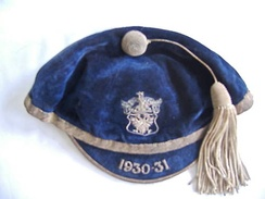 Sports cap awarded to a Perth Academy schoolboy in Scotland in the 1930s