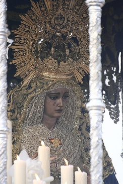 The abolition of Friday of Sorrows of the Virgin Mary is an example of changes in the Liturgical Calendar after the Council. The Virgin of Hope of Macarena, Spain.