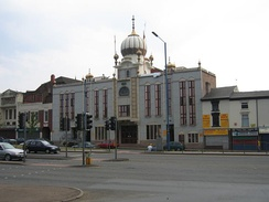 A Sikh gurdwara in Smethwick. The majority of gurdwaras in Britain are Caste based[206] and one can indirectly inquire about a person's caste based upon which gurdwara he attends.