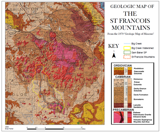 Geologic map of the St. Francois Mountain region