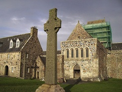 The ninth-century St Martin's Cross, in front of Iona Abbey, the site of one of the most important religious centres in Scotland