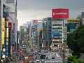View of Taitō, Tokyo, with a large Vodafone sign in the background (2004)