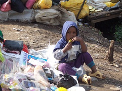 Street child in Kenya