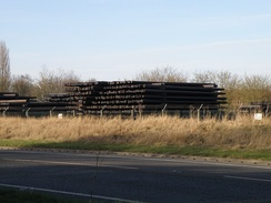 Calders & Grandidge in the south of Boston are the UK's largest supplier of telegraph poles and wooden railway sleepers
