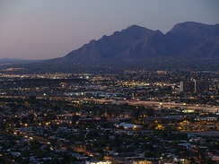 Evening comes to Tucson