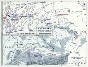 The strategic situation from 11 to 14 October. The French hurl themselves westwards to capture the Austrian army.