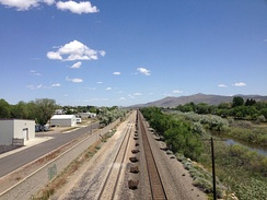Elko was settled with the coming of the railroad, which still runs past downtown Elko near the Humboldt River.