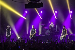 5 Seconds of Summer performing at the Enmore Theatre in Sydney, Australia on 30 April 2014