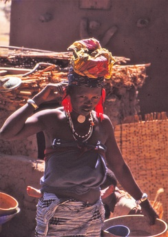 Fulbe woman at the Sangha market, Mali 1992