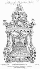 Design for a State Bed by Thomas Chippendale (1753–54)