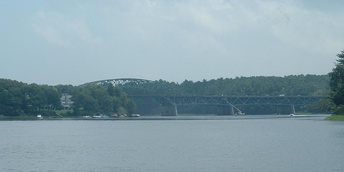 Whittier Memorial Bridge, which conducts Route 95, a major highway, between Newburyport and Amesbury