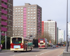 High-rise housing on Anlaby Road