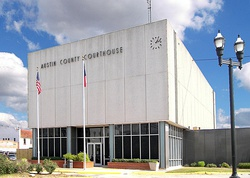 The Austin County Courthouse in Bellville