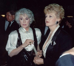 Mame original Broadway cast members Beatrice Arthur and Angela Lansbury at the 41st Primetime Emmy Awards (1989). The two had remained close friends over the years.