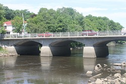 Bridge over the Union River in downtown Ellsworth