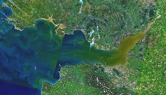 Satellite view of the Bristol Channel