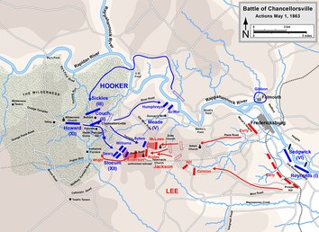 Chancellorsville, actions on May 1