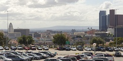 View of downtown and the Palos Verdes Peninsula