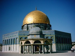 Dome of the Rock built by Abd al-Malik ibn Marwan; completed at the end of the Second Fitna