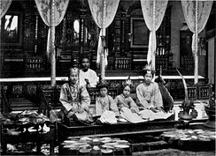 A traditional Burmese ear-boring ceremony.