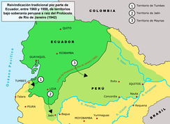 Map of Ecuadorian Land Claims after 1916