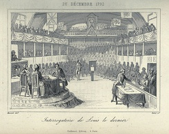 The last interrogation of Louis XVI at the National Convention on 26 December 1792