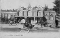 The Gare de Cambrai-Annexe [fr] in 1913
