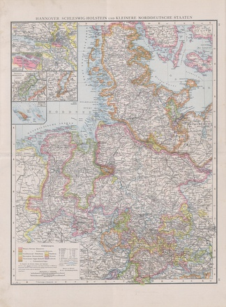Hannover, Schleswig-Holstein and small Northern German States (1890)