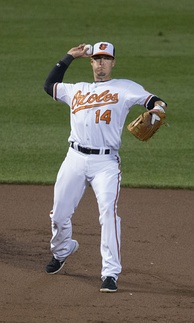 Johnson playing for the Baltimore Orioles in 2014