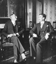 Eden with French Prime Minister Léon Blum in Geneva in 1936