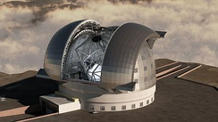 Rendering of the European Extremely Large Telescope.