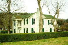 The replica home of Lem Motlow, proprietor of Jack Daniel's from 1911 to 1947; the original home was demolished in 2005 and rebuilt to the likeness of Lem Motlow's house at Jack Daniel's Distillery in Lynchburg[24]
