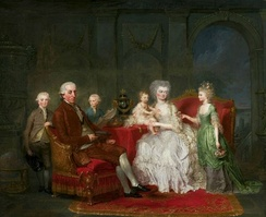Frederick William with his family by Anna Dorothea Lisiewska, ca. 1777, National Museum in Warsaw.
