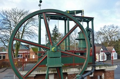 A preserved Watt beam engine at Loughborough University