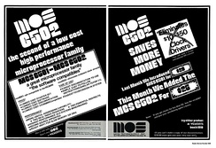 Introductory advertisement for the MOS Technology MCS6501 and MCS6502 microprocessors